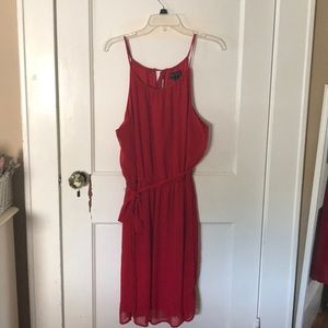 Plus Size Red Halter Top Dress